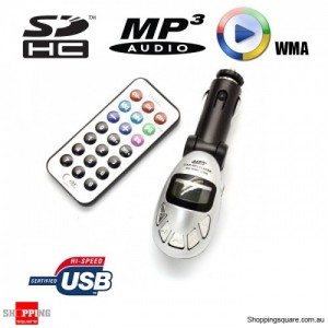 Wireless FM Transmitter Stereo Car MP3 Player Kit - Support SD Card, USB Drive