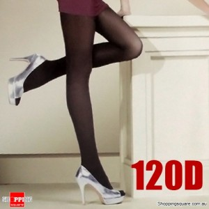 120D Full Tights Pantyhose Cashmere- Black