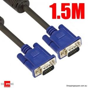 1.5M Premium VGA SVGA 15pin Male to Male Monitor Cable