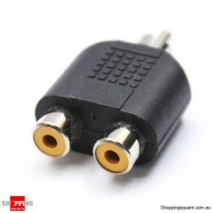 Pair Dual RCA Female to RCA Male Adapters
