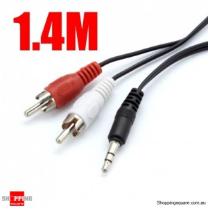3.5mm Audio Jack Plug to 2 RCA Adapter Cable Cord 5ft