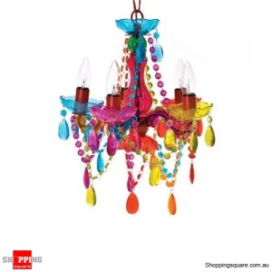 Muticoloured Crystal Lamp Chandelier  with 5 Arms by Leitmotiv
