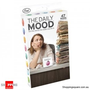 The Daily Mood Flip Chart By Fred & Friends- Tell the World the State you're in!