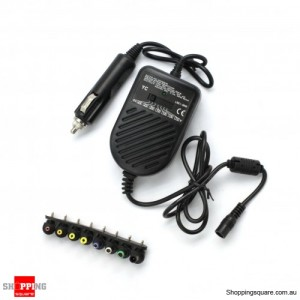 80W Universial Laptop Car Charger - Up to 20V output