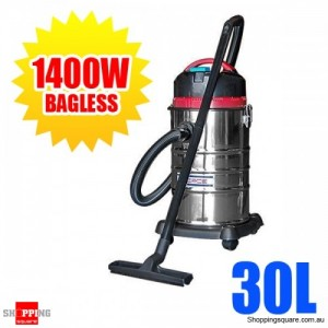 i.Force Commercial 30L Stainless Steel Bagless Vacuum Cleaner 1400W