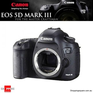 Canon EOS 5D Mark III DSLR 22.3MP Full HD ISO100-25600 Body Camera Black