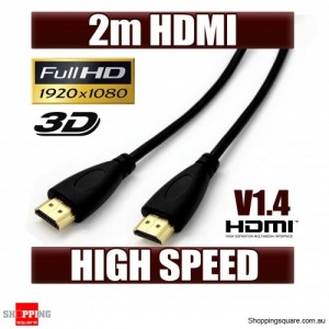 OD 4.2 2m HDMI Cable Gold Plated High Speed 3D Audio 1080P