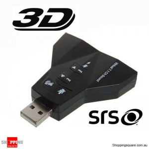 USB 2.0 to 3D Virtual 7.1 Channel Audio Sound Card Adapter