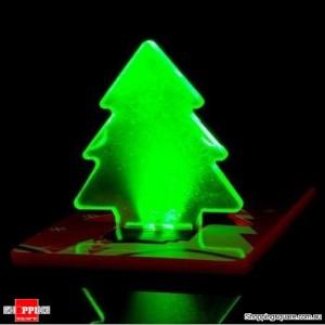 Folding Pocket LED Card Light Lamp Bulb Christmas Tree