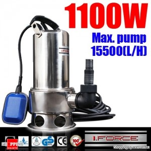 1100W Stainless Steel Submersible Dirty Water Pump