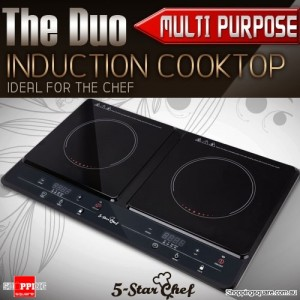 5 Star Chef Multi-Purpose Portable Induction Duo Cooker Cooktop