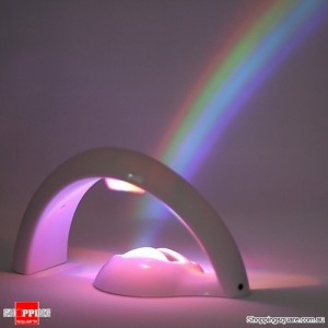 Romantic LED Rainbow Projector Color Night Lamp Light 2