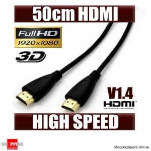 OD 4.2 50CM HDMI Cable Gold Plated V1.4 High Speed 3D Audio 1080P
