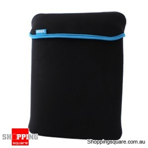 LASER Smart Notebook Sleeve For Up To 10'', With Reversible Colours, Black & Blue
