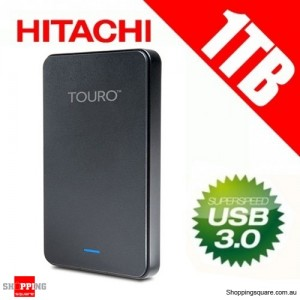 "Hitachi Touro Mobile MX3 1TB USB 3.0 Portable Hard Drive 2.5"" External HDD, USB Powered 0S03803"