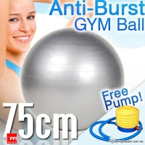 Fitness Yoga Anti-Burst Gym Pilates Swiss Ball with Foot Pump