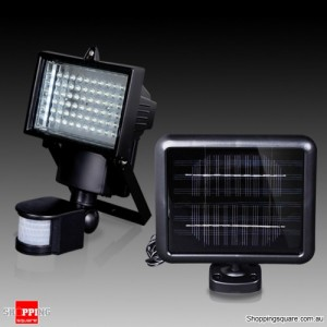 Ultra Bright LED Solar Detection Sensor Security Garden Light