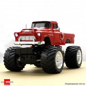 Remote Control Truck - Chevrolet Pick Up Monster Truck - Red