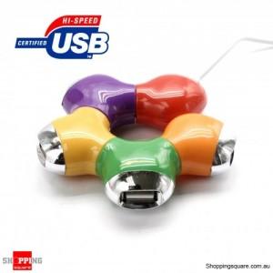 Color Computer High Speed USB 2.0 4 Ports Hub