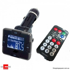 FM Transmitter Car Modulator with Screen Display