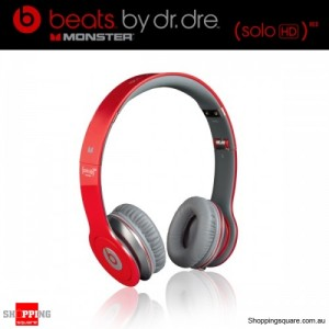 Monster Beats by Dr. Dre Solo HD Headphones Red Limited Edition