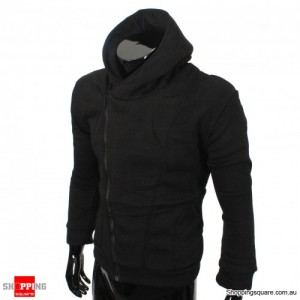 Mens Slim Fit Stylish Designed Coat Jacket Black Colour - Size 10