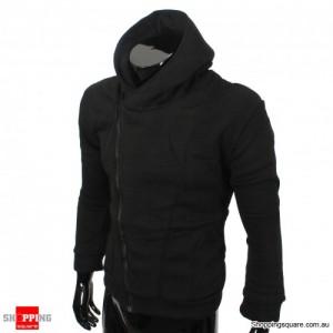 Mens Slim Fit Stylish Designed Coat Jacket Black Colour - Size 12