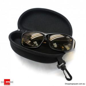 Glasses Eyeglasses Sunglass Zipper Hard Case keyring