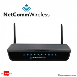 Netcomm NB604N Wireless N300 Modem Router ADSL2+ 4 LAN ports USB IPv6 2 Antenna