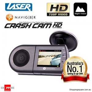 "Navig8r Navman NAVCAM-HD Car Camera Recorder HD 720p 2.5"" LCD TFT"