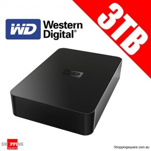 Western Digital Elements 3TB Desktop 3.5'' External Hard Drive USB 2.0, Black