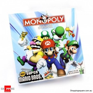 New Super Mario Bros Birthday Party Board Game Monopoly