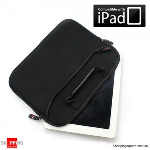 Zipper Sleeve Bag Carry Bag Pouch With Handle for Apple The New iPad / iPad 2 Black Colour