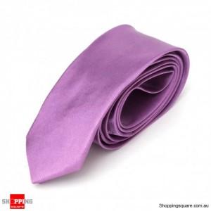 #01 Mens Skinny Solid Color Plain Tie Necktie