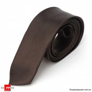 #09 Mens Skinny Solid Color Plain Tie Necktie