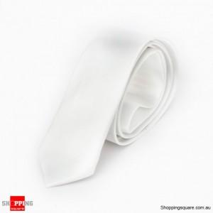 #10 Mens Skinny Solid Color Plain Tie Necktie