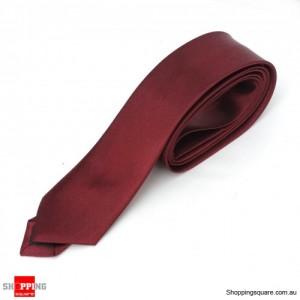 #24 Mens Skinny Solid Color Plain Tie Necktie