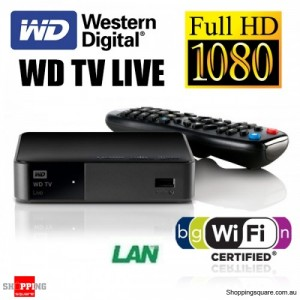 Western Digital WD TV Live Streaming Media Player WiFi WDBGXT0000NBK