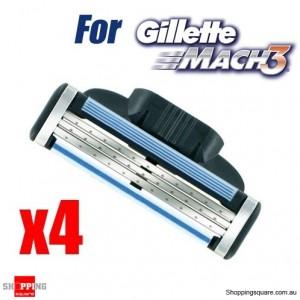 4Pcs Set of Generic Razor Shaving Cartridge Blades for Gillette Mach3