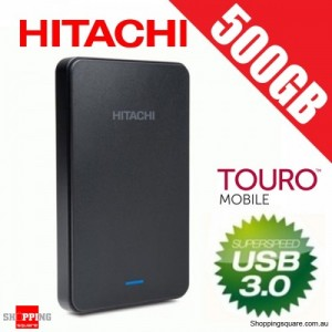 Hitachi 500GB Touro Mobile 2.5'' Portable Hard Drive USB 3.0 (0S03798)