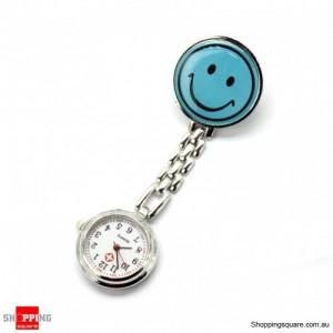 Smile Face Nurse Fob Brooch Pendant Pocket Watch