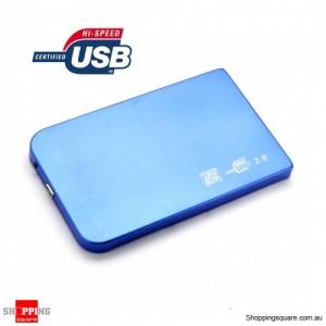 """Blue Colour Slim USB 2.0 2.5"""" SATA External Hard Drive Disk HDD Enclosure Case Box"""