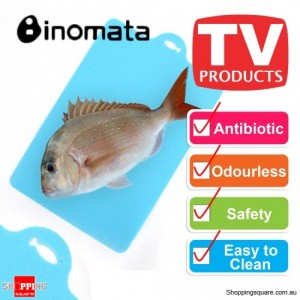 Inomata Folding Index Chopping Board Antibiotic Mat - Fish