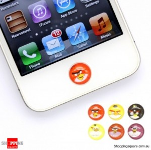 6pcs Home button sticker Angry birds For Apple iPhone, iPod Touch and iPad