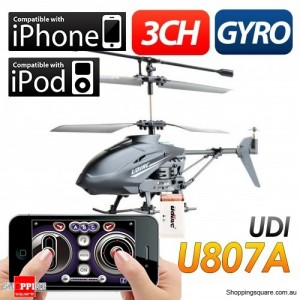 Remote Control Helicopter for iPod iPhone & iPad, 3CH with Gyro