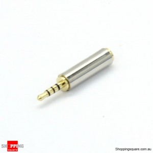 2.5mm Male to 3.5mm Female Stereo Audio Headphone Adapter Converter Jack