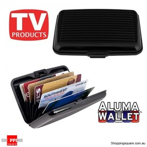 Credit Card Wallet Holder Aluminum Metal Pocket Case Box