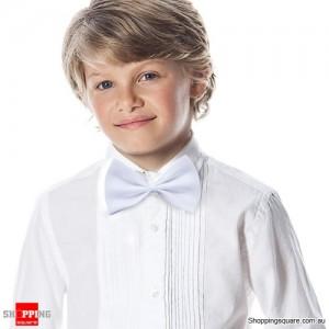 Boy's Solid Bowtie White Colour