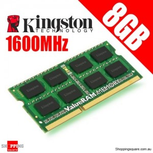 Kingston KVR16S11/8 8GB 2Rx8 1G x 64-Bit PC3-12800 CL11 204-Pin SODIMM Laptop Ram