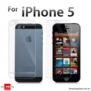 Dual iPhone 5S 5 Screen Protector Clear (Front & Back)